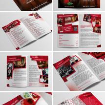 Campari RNDB Barführer und Programm im Postkartenformat
