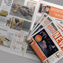 Hauszeitungsdesign für Home Company