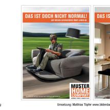 """Anzeigen für das Möbelhause """"Home Company"""""""