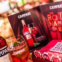Werbemittel Campari´s Rote Nacht der Bars