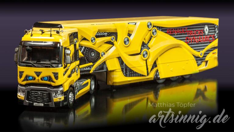 3D Design Renault Trucks Modell gelb