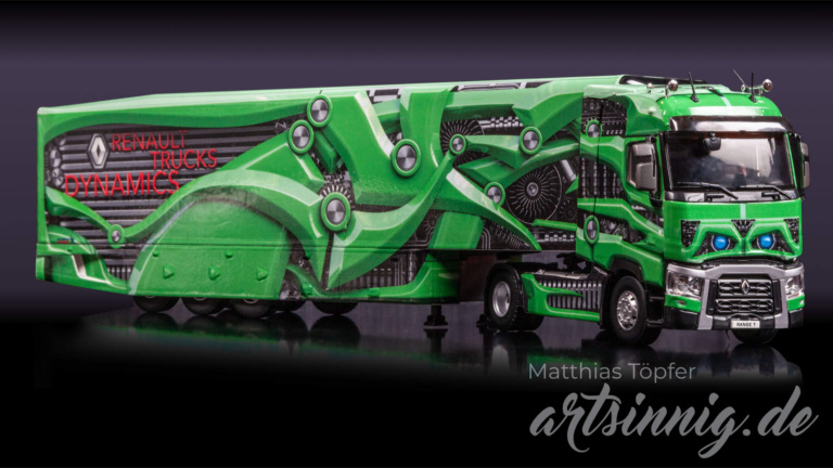 3D Design Renault Trucks Modell grün