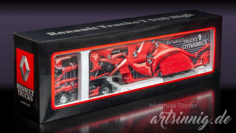 3D Design Renault Trucks Modell rot