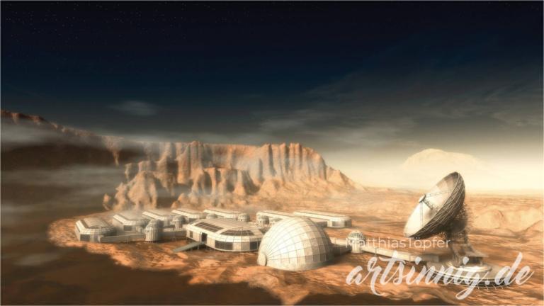 Matthias Töpfer 3D-Illustration einer Marsstation