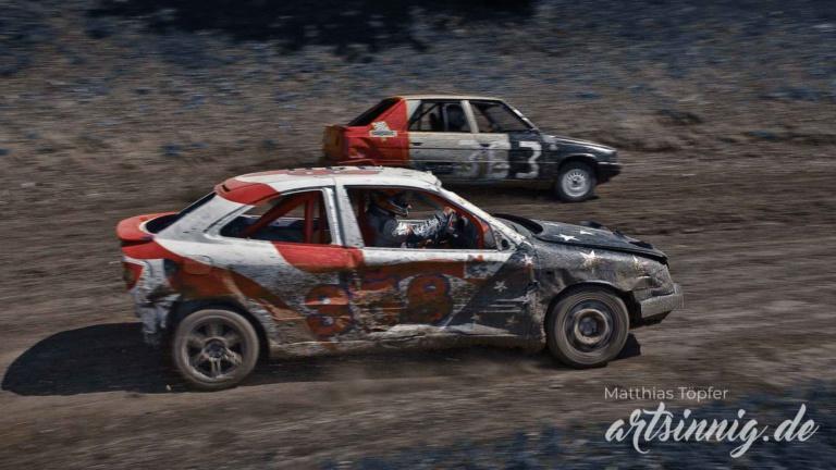 slow shutter speed motorsport stock car racing